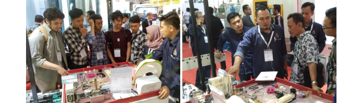 Thank you for visiting our booth at the Manufacturing, Machine Tool Indonesia 2018